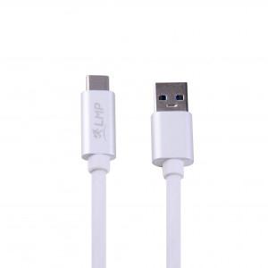 LMP USB-C (m) zu USB-A (m) Kabel 1m