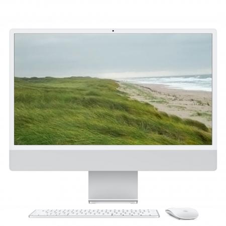 "Apple iMac 24"" Retina 4.5K, M1 8-Core CPU, 8GB, 512GB SSD, M1 8-Core GPU, Silber**, MGPD3D/A"