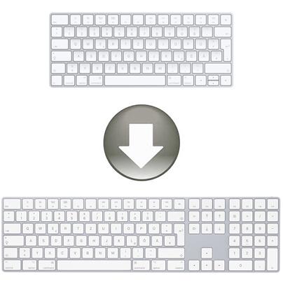 Apple Magic Keyboard mit Ziffernblock - Austausch beim Mac Kauf
