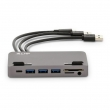 LMP USB-C Attach Dock Pro 4K 10 Port für iMac, USB-C Gen2 (10G), space grau