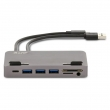 LMP USB-C Attach Hub 7 Port für iMac, USB-C Gen 2 (10G), space grau