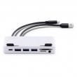 LMP USB-C Attach Hub 7 Port für iMac, USB-C Gen 2 (10G), silber