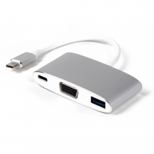 LMP USB-C Multiport Adapter VGA & USB 3.0 silber