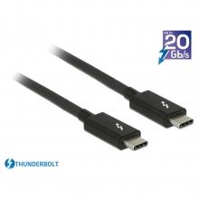 Delock Thunderbolt 3 Kabel, 2m, schwarz