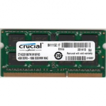 CRUCIAL 4GB DDR3 SO-DIMM PC3-8500 1066Mhz