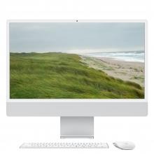 "Apple iMac 24"" Retina 4.5K, M1 8-Core CPU, 8GB, 256GB SSD, M1 7-Core GPU, Silber**, Magic Keyboard Touch ID Ziffernblock"