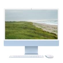 """Apple iMac 24"""" Retina 4.5K, M1 8-Core CPU, 8GB, 256GB SSD, M1 7-Core GPU, Blau**, MJV93D/A"""